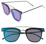 Spitfire Women's Ftl 2 54Mm Flat Frame Sunglasses - Black/ Gold/ Green Mirror