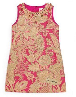 Dolce & Gabbana Kids Crystal-Embellished Dress (2-6 Years)