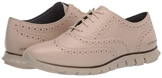 Cole Haan Zerogrand Wing Oxford Closed Hole (Brazilian Sand Leather/Ivory) Women's Slip on Shoes