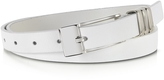 Forzieri Skinny White Leather Belt