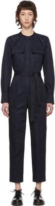 A.P.C. Navy Eleonore Jumpsuit