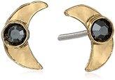 Mercedes Salazar Gold Hammered Moon Earrings