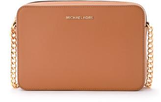 Michael Kors Jet Set Travel Acorn Saffiano Leather Shoulder Bag
