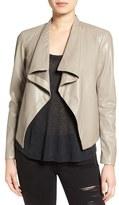 BB Dakota Women's 'Peppin' Drape Front Faux Leather Jacket