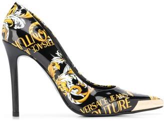 Versace Baroque-Print Stiletto Pumps