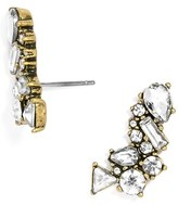 BaubleBar Women's Crystal Triangle Ear Crawlers