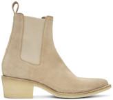 Amiri Tan Pointy Toe Chelsea Boots