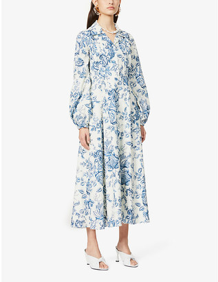 Erdem Kendrick floral-print cotton midi dress