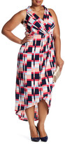 Adrianna Papell Printed Wrap Maxi Dress (Plus Size)