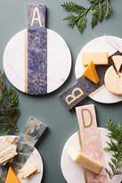 Anthropologie Marbled Monogram Cheese Board