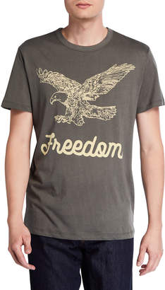 Chaser Men's Freedom Eagle Cotton Crewneck T-Shirt