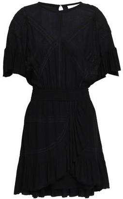 IRO Lace-trimmed Crepe Mini Dress