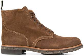 Polo Ralph Lauren textured lace-up boots