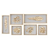 The Well Appointed House Golden Leaves Shadow Box Set of 6