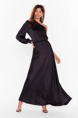 Nasty Gal Womens Party at the Back Satin Maxi Dress - Black