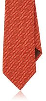 Giorgio Armani Men's Geometric Silk Necktie-ORANGE