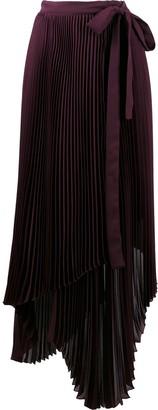 BROGNANO Pleated Wrap Skirt