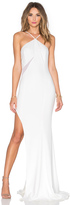 Jay Godfrey Lifeson Mesh Inset Gown