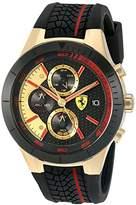 Ferrari 830298 'RED REV EVO CHRONO' Quartz Gold-Tone and Silicone Watch