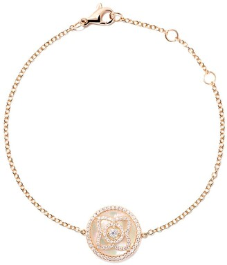 De Beers 18kt rose gold Enchanted Lotus Mother-of-Pearl diamond bracelet