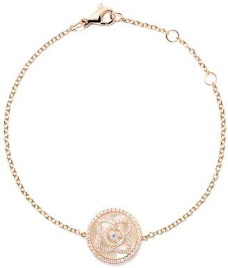 De Beers 18kt rose gold Enchanted Lotus Mother-of-Pearl diamond bracelet