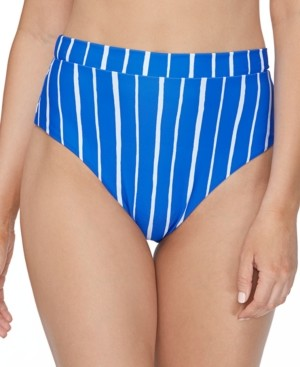 Raisins Juniors' Shore Thing Tropics High-Waist Bikini Bottoms Women's Swimsuit