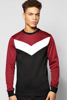 Boohoo Chevron Panel Sweater