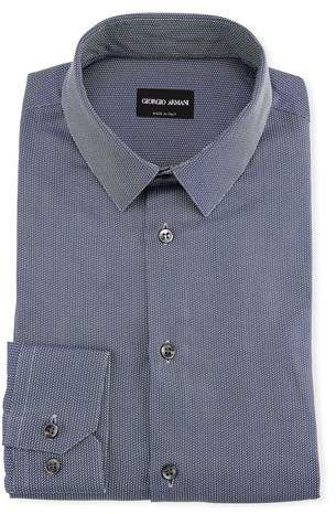 Giorgio Armani Men's Textured Cotton Dress Shirt