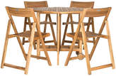 One Kings Lane Outdoor Lacy Table with Chairs - Teak