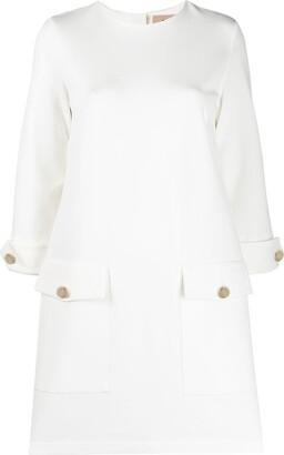 Blanca Vita Button-Detail Shift Dress