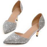 Pumps & Heels Contractor stiletto high heel Sandals/ wedding shoes/ the ride and ridesmaid shoes/Party shoes/ sequin wedding shoes