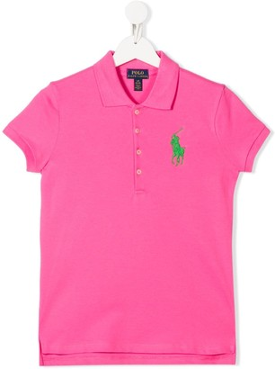 Ralph Lauren Kids TEEN embroidered logo polo shirt