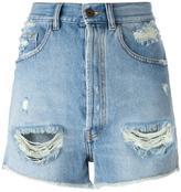 Faith Connexion high waisted denim shorts - women - Cotton - 26