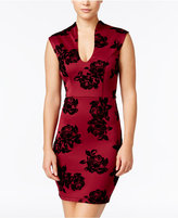Trixxi Juniors' Flocked Floral Bodycon Dress