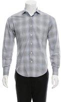 Lanvin Shadow Plaid Button-Up Shirt