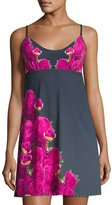 Commando The Photo Op Floral-Print Chemise, Gray