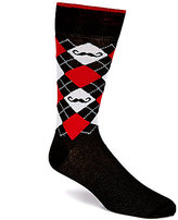 Daniel Cremieux Mustache Argyle Crew Dress Socks