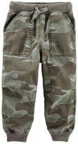 Osh Kosh Boys 4-8 Ribbed Pork Chop Pocket Camouflage Twill Jogger Pants