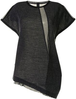 Y's asymmetric draped T-shirt