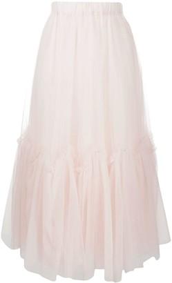 P.A.R.O.S.H. Mesh-Panel Midi Skirt