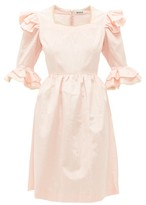 Batsheva Antoinette Ruffled Moire Dress - Womens - Pink