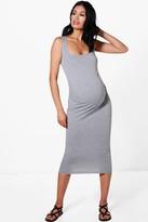 boohoo Maternity Ruby Over The Bump Bodycon Dress