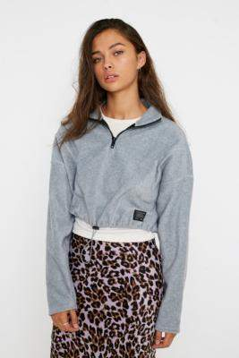 Urban Outfitters Fleece Panel Track Top - black S at