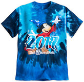 Disney Sorcerer Mickey Mouse Tie-Dye Tee for Boys - Walt World 2017
