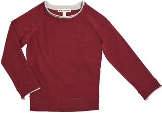 Appaman Boy's Jackson Contrast Raw-Edge Sweater, Size 2-14