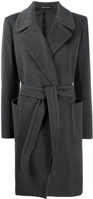 Tagliatore Tie-Waist Wool Coat