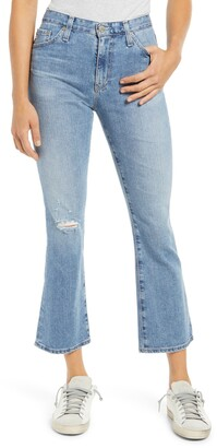 AG Jeans Jeans Jodi Ripped Crop Flare Jeans