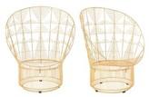Bend Goods Papasan Chair Leg Color: Gold