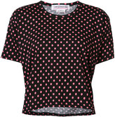 Comme des Garcons polka dot patterned T-shirt - women - Cotton - XS