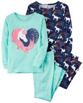 Carter's Girls 4-12 Unicorn Tops & Bottoms Pajama Set